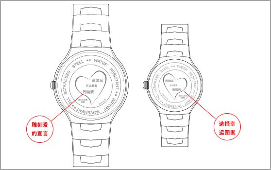 私人婚礼礼品手表定制--【深圳手表厂家】