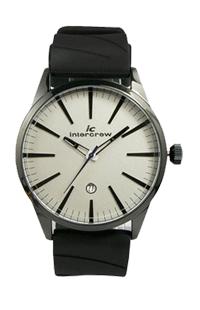 男士硅胶手表定制 intercrew手表工厂 韩国时尚男表礼品表