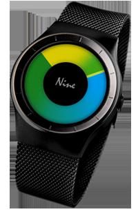 韩国NO.9男表 个性创意概念防水表无指针男士手表 手表厂家直销