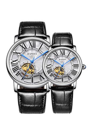 镂空情侣手表定制 机械手表代工 礼品手表定制