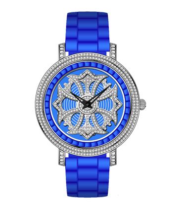 时尚镶钻石英手表
